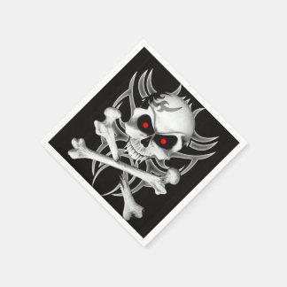 Death's Skull and Crossbones Napkin