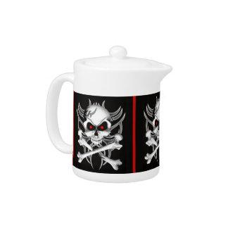 Death's Skull and Crossbones Teapot
