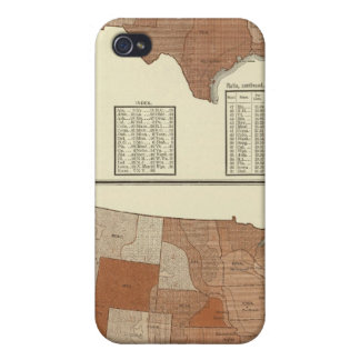 Deaths statistical map case for iPhone 4