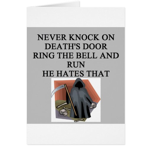 death'sdoorbell greeting cards