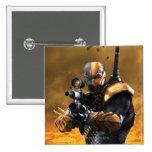 Deathstroke 2 Inch Square Button