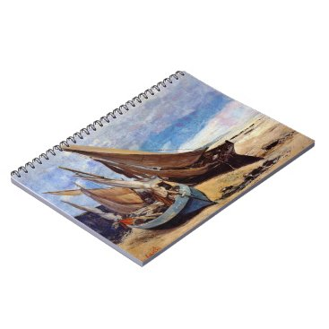 Beach Themed Deauville Beach 1866 Notebook