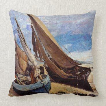 Beach Themed Deauville Beach 1866 Throw Pillow