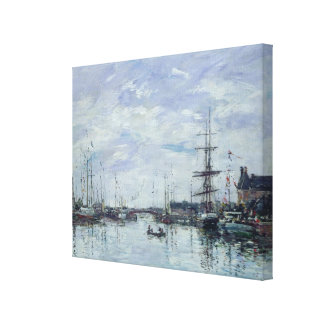 Deauville, the Dock, 1892 Canvas Print