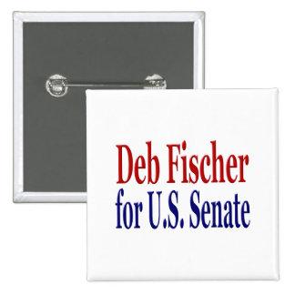 DEB Fischer para el botón del senado Pin