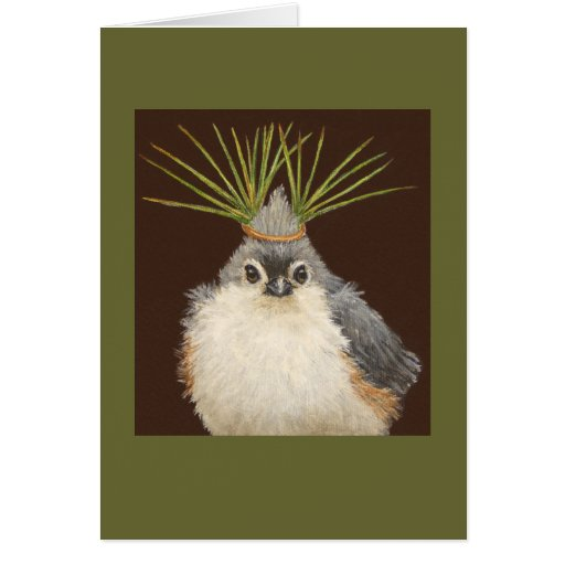 Deb the tufted titmouse card