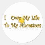 Deba mi vida a los pegatinas de los antepasados