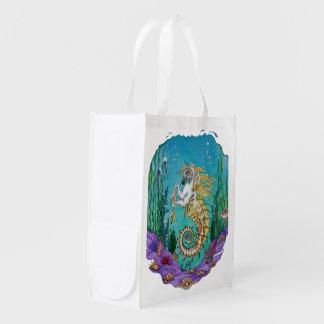 Debajo de bolso del caballo del agua bolsas reutilizables