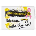 Debajo de cáncer de pecho de la construcción felicitaciones