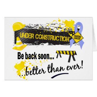 Debajo de cáncer de próstata de la construcción felicitación