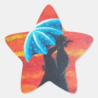 Debajo de II Pegatina Forma De Estrella Personalizada