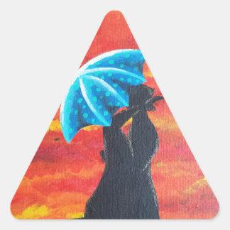 Debajo de II Pegatinas Triangulo