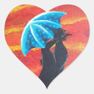 Debajo de II Calcomanía De Corazón Personalizadas