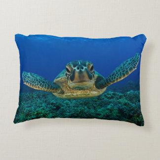 Debajo de la almohada de la tortuga de mar cojín decorativo