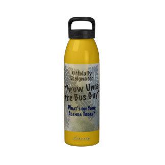 Debajo de la botella de la libertad del individuo botella de agua reutilizable
