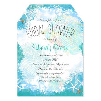 """Debajo de la ducha nupcial del mar invitación 5"""" x 7"""""""
