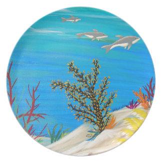 Debajo de la galería del mar platos