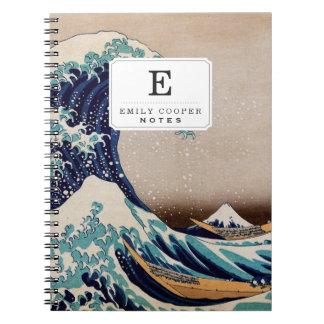 Debajo de la gran onda de Kanagawa Libretas