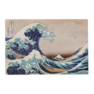 Debajo de la gran onda de Kanagawa Tapete Individual