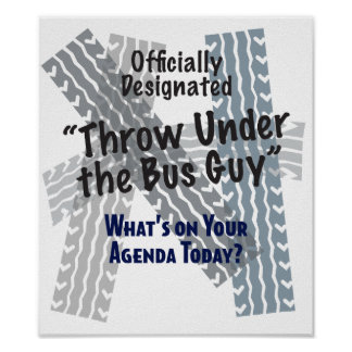 Debajo de la impresión del individuo del autobús póster