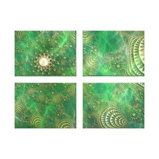 Debajo de la impresión esmeralda de la lona del ma lona envuelta para galerias