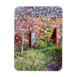 Debajo de la magnolia imanes de vinilo