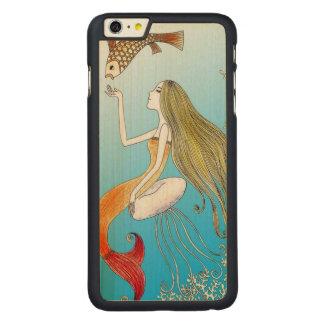 Debajo de la sirena hermosa del mar funda de arce carved® para iPhone 6 plus slim