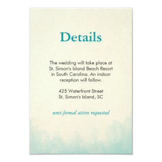 """Debajo de la tarjeta de detalles del mar invitación 3.5"""" x 5"""""""