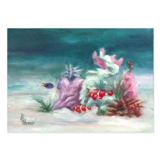Debajo de la tarjeta del arte del mar tarjetas de visita
