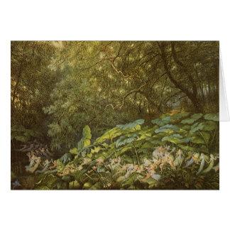 Debajo de las hojas del muelle por Doyle, hadas Tarjetón