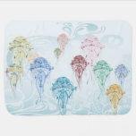 Debajo de las medusas 1 de la fantasía del mar - manta de bebé