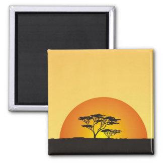 Debajo de los cielos africanos: Puesta del sol de  Iman De Nevera
