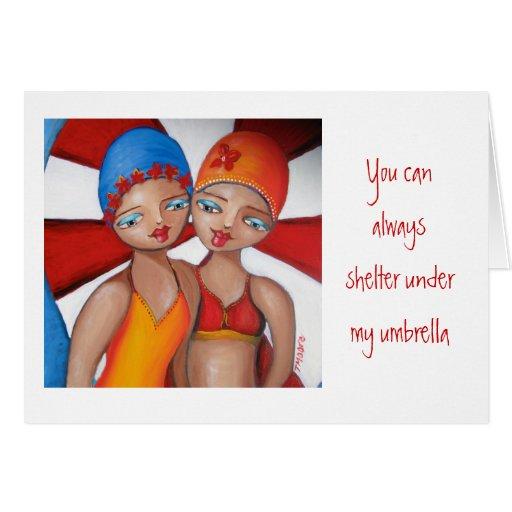Debajo de mi paraguas Ella Ella Tarjeta De Felicitación