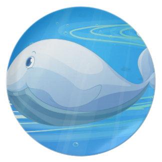 debajo de pescados del agua plato para fiesta