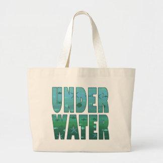 Debajo del agua bolsa tela grande