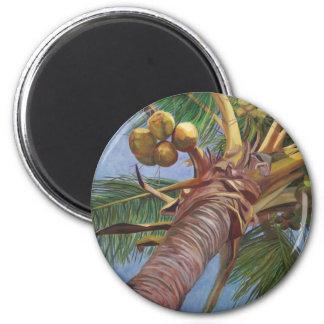 Debajo del árbol de coco imán redondo 5 cm