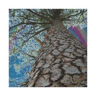 Debajo del árbol impresión en lona estirada