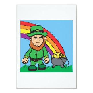 Debajo del arco iris invitación 12,7 x 17,8 cm
