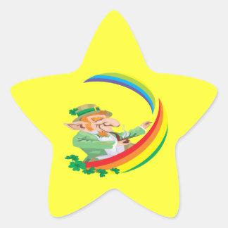 Debajo del arco iris pegatinas forma de estrella