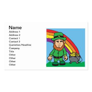 Debajo del arco iris plantilla de tarjeta de visita