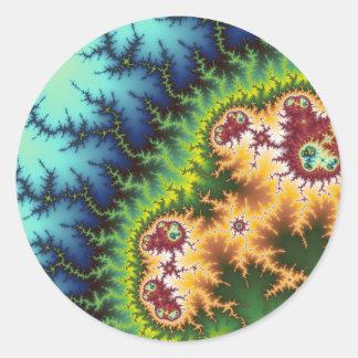 Debajo del bosque - pegatina del fractal