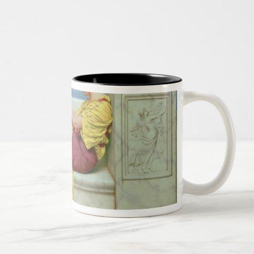Debajo del flor que cuelga en la rama, 1917 taza de dos tonos