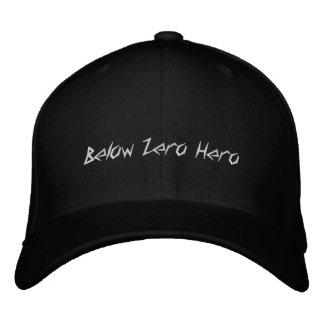 Debajo del héroe cero - gorra que acampa del invie gorra de beisbol
