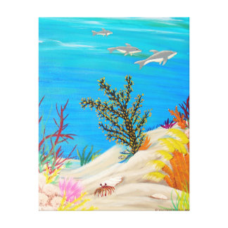 Debajo del mar 3 lienzo envuelto para galerias