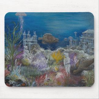 Debajo del mar arruina la pintura encendido tapetes de raton