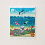 Debajo del mar con los pescados y otros animales puzzle