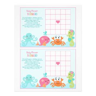 """Debajo del mar/de la ballena rosada """"bingo de la folleto 8.5"""" x 11"""""""