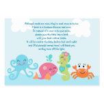 Debajo del mar/de la etiqueta/de la tarjeta rosada tarjetas de visita