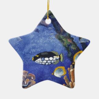 Debajo del mar I Adorno Navideño De Cerámica En Forma De Estrella