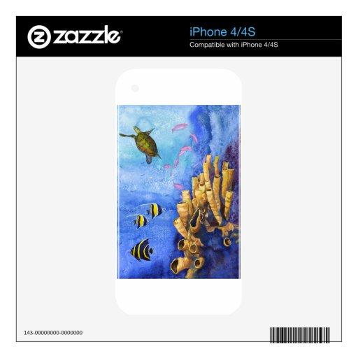 Debajo del mar II Calcomanías Para El iPhone 4